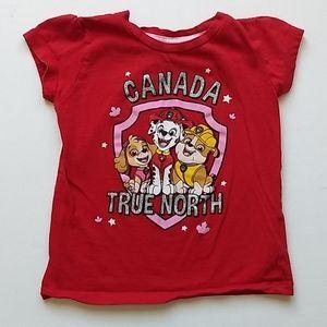 Canada Paw Patrol T-shirt * Size 3T